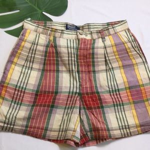 Vintage Ralph Lauren Polo Plaid Short 32 🇺🇸 USA